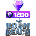 بسته ۱۲۰۰ تایی الماس Boom Beach