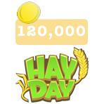 ۱۲۰،۰۰۰ سکه بازی Hay Day
