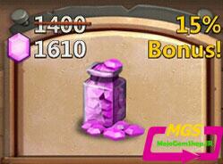 ۱۴۰۰ الماس Castle Clash