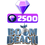 بسته ۲۵۰۰ تایی الماس Boom Beach