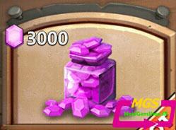۳۰۰۰ الماس Castle Clash