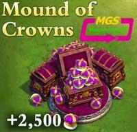 ۲۵۰۰ تاج بازی Dominatios
