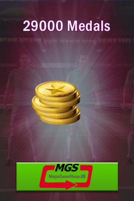 ۲۹,۰۰۰ سکه بازی Top Eleven