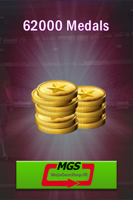 ۶۲,۰۰۰ سکه بازی Top Eleven
