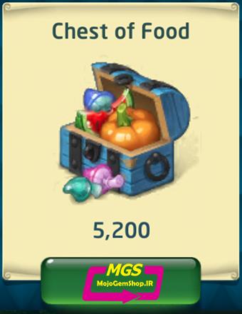 بسته ۵۲۰۰ غذا Dragon World