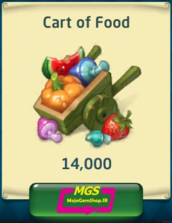 بسته ۱۴۰۰۰ غذا Dragon World