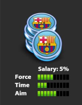 مهره سوم بارسلونا Soccer Stars