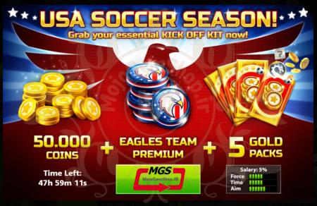 ایونت ۲ !USA SOCCER SEASON ( شامل ۵ گلد پک، ۵۰،۰۰۰ سکه، تیم ویژه آمریکا)