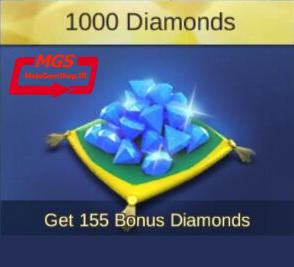 ۱۰۰۰ الماس Mobile Legend (همراه با ۱۵۵ الماس هدیه)