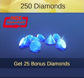 ۲۵۰ الماس بازیMobile Legend (همراه با ۲۵ الماس هدیه)