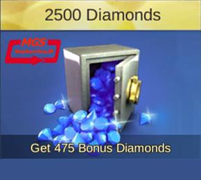 ۲۵۰۰ الماس بازیMobile Legend (همراه با ۴۷۵ الماس هدیه)