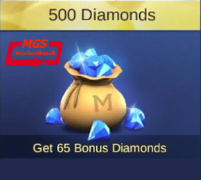 ۵۰۰ الماس بازیMobile Legend (همراه با ۶۵ الماس هدیه)