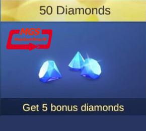 ۵۰ الماس بازیMobile Legend (همراه با ۵ الماس هدیه)