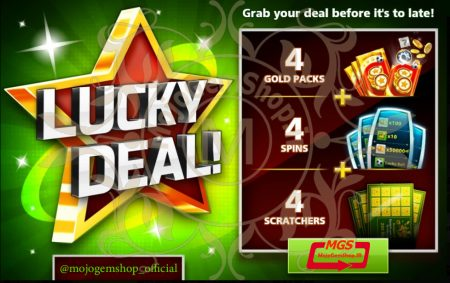 ایونت Lucky Deal بازی ساکر استارز (شامل ۴ پک طلائی، ۴ اسکرچ و ۳ اسپین)