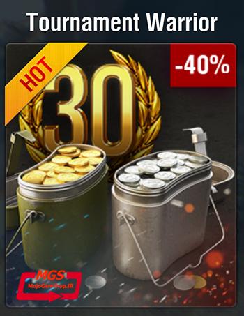 ۳۰ روز اکانت پرمیوم + ۴۰۰۰ سکه بازی + ۳,۰۰۰,۰۰۰ کردیت World of Tanks Blitz