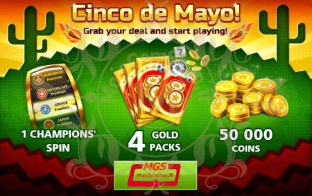ایونت !Cinco de Mayo بازی ساکر استارز (شامل چمپیون اسپین، ۴ گلد پک و ۵۰،۰۰۰  سکه)