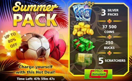 ایونت !SUMMER PACK (شامل ۳ سیلور پک، ۲۵۰ دلار و ۳۷،۵۰۰ سکه)