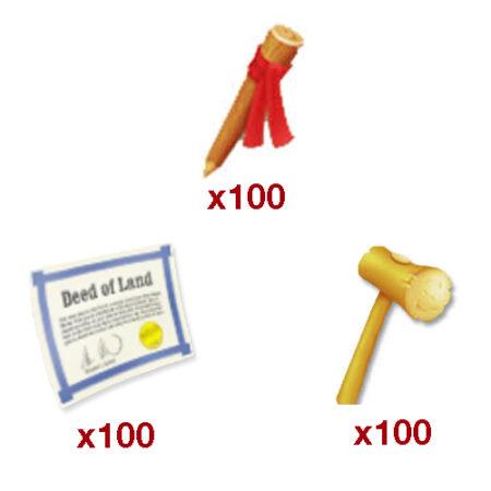 ۱۰۰ ست ابزار زمین بازی Hay Day