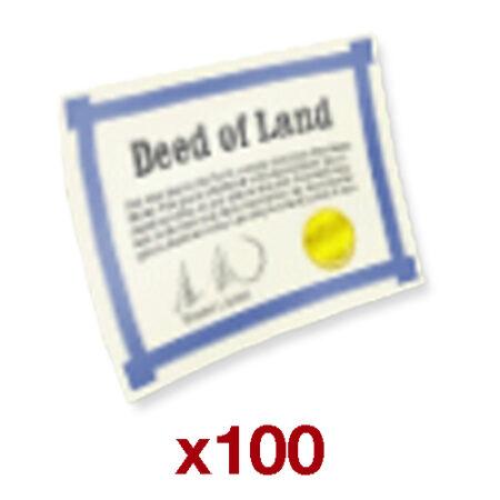۱۰۰ Deed بازی Hay Day