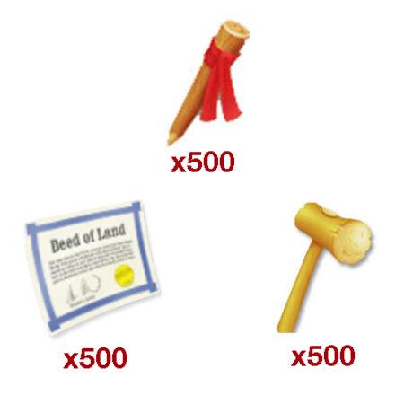 ۵۰۰ ست ابزار زمین بازی Hay Day + هدیه