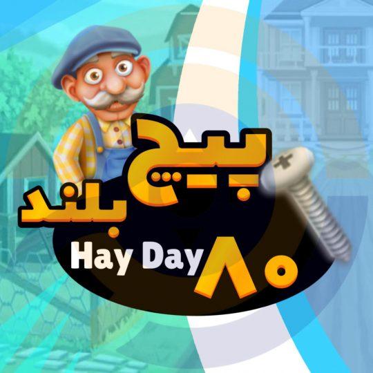 ۸۰ پیچ بلند بازی Hay Day