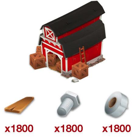 ۱۸۰۰ ست ابزار انبار بازی Hay Day + هدیه