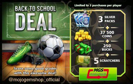 ایونت !Back to School Deal (شامل ۳ سیلور پک، ۲۵۰ دلار و ۳۷،۵۰۰ سکه)