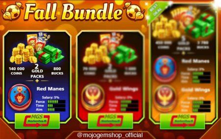 ایونت Fall Bundle (شامل ۲ پک طلایی، ۸۰۰ دلار، ۱۴۰,۰۰۰ سکه و مهره ویژه)