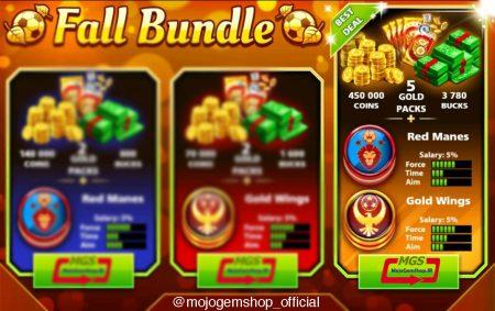 ایونت Fall Bundle (شامل ۵ پک طلایی، ۳۷۸۰ دلار، ۴۵۰,۰۰۰ سکه و ۲ مهره ویژه)