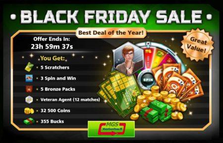 ایونت Black Friday (شامل ۵ پک برنز، ۳۵۵ دلار، ۱۲ مربی وترن و ۳۲۵۰۰ سکه)