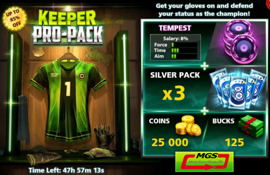 ایونت Keeper Pro Pack (شامل یک مهره، ۱۲۵ دلار، ۳ بسته نقره ای و ۲۵ هزار سکه)