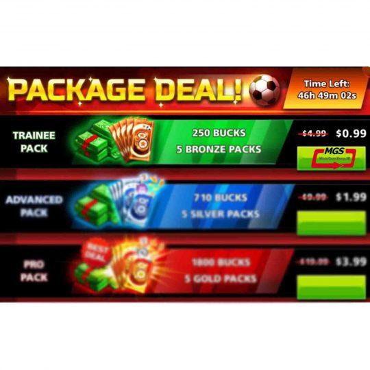 ایونت PACKAGE DEAL شامل 1800 دلار و 5 بسته طلایی