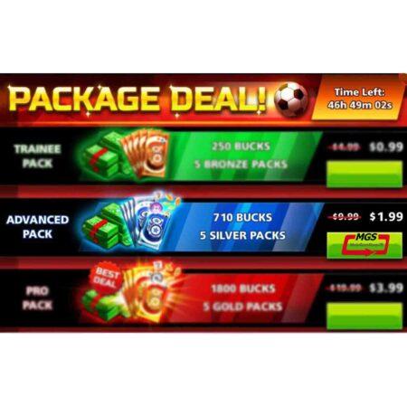 ایونت PACKAGE DAEL شامل ۷۱۰ دلار و ۵ بسته نقره ای