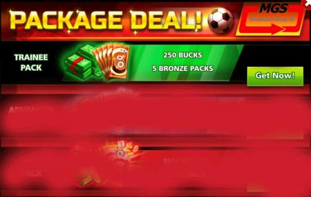 ایونت PACKAGE DAEL شامل ۲۵۰ دلار و ۵ بسته برنزی