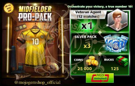 ایونت MIDFIELDER PRO-PACK 1 ( شامل ۱۲۵ دلار، ۱۲ مربی وترن، ۳ سیلور پک و ۲۵۰۰۰ سکه)