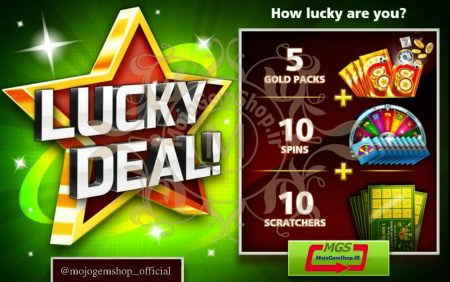 ایونت Lucky Deal بازی ساکر استارز (شامل ۵ پک طلائی، ۱۰ اسکرچ و ۱۰ اسپین)