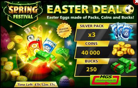 ایونت Easter Deal (شامل ۲۵۰ دلار، ۳ بسته نقره ای و ۴۰ هزار سکه)