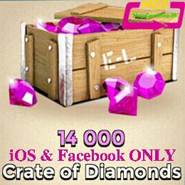 بسته ۱۴۰۰۰ تایی الماس Boom Beach (مخصوص ایفون و فیسبوک)