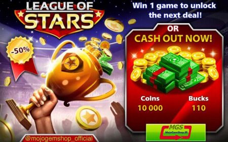 ایونت League of Stars 1 ( شامل ۱۱۰ دلار و ۱۱۰۰ سکه)