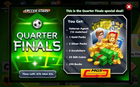 ایونت Quarter Final 1 ( شامل ۲۵۰ دلار، ۱ پک طلایی، ۲ پک نقره ای، ۱۲ ایجنت وترن، ۲۵ هزار سکه)