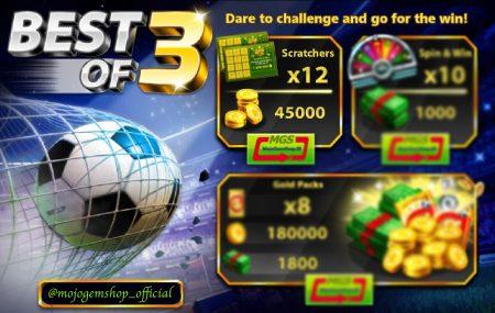 ایونت Best of 3 ( شامل ۴۵ هزار سکه و ۱۲ اسکرچر)