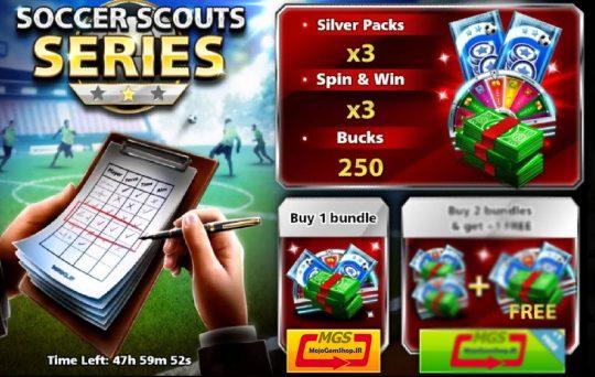 ایونت Soccer Scount Series 1 ( شامل ۲۵۰ دلار و ۳ سیلور پک و ۳ اسپین)
