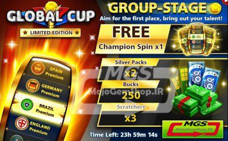 ایونت Group Stage (شامل ۱ اسپین Championship مهره، ۲۵۰ دلار و ۲ سیلور پک و ۳ اسکرچر)