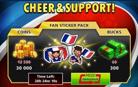 ایونت CHEER & SUPPORT( شامل ۳۰۰ دلار و استیکر پک و ۳۰.۰۰۰ سکه)