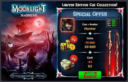 ایونت Moon Light Madness 8Pool (شامل ۶۲ دلار، ۳۰ هزار سکه، چوب و آواتار)