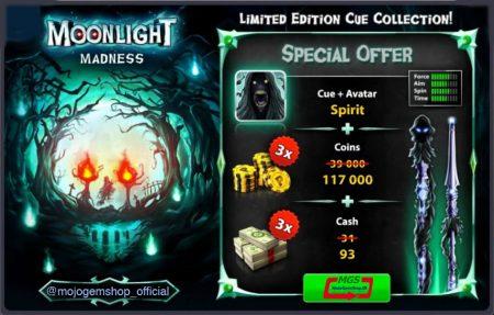 ایونت Moon Light Madness 8Pool (شامل ۹۳ دلار، ۱۱۷ هزار سکه، چوب و آواتار)