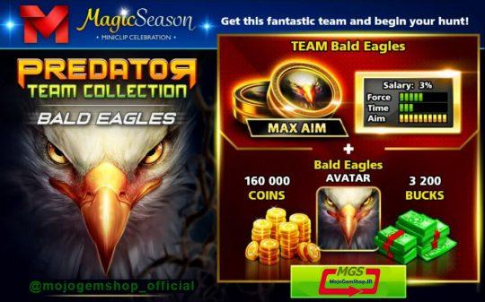 ایونت Predator (شامل ۳۲۰۰ دلار، مهره عقاب، آواتار عقاب و ۱۶۰ هزار سکه)