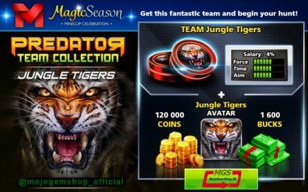 ایونت Predator (شامل ۱۶۰۰ دلار، مهره ببر، آواتار ببر و ۱۲۰ هزار سکه)