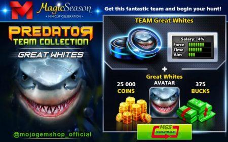 ایونت Predator (شامل ۳۷۵ دلار، مهره کوسه، آواتار کوسه و ۲۵ هزار سکه)