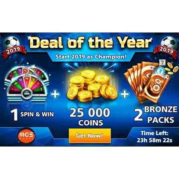 ایونت Deal of the Year (شامل ۲ برنزپک، ۱ اسپین و ۲۵ هزار سکه)